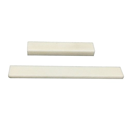 Greenten Bone Blank Saddle Nut for Accoustic/Classical Guitar,1Set