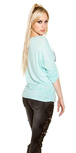 KouCla - Camiseta sin mangas - para mujer Verde Agua