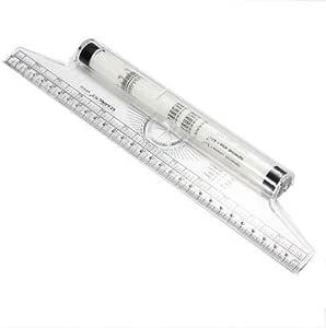 Multi-purpose Clear Metric Parallel Drawing Rolling Ruler Measurement Tool Shan