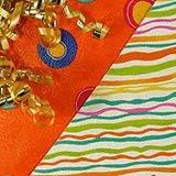 "Dots/Stripes Gift Wrap - 24"" X 15' - Roll"
