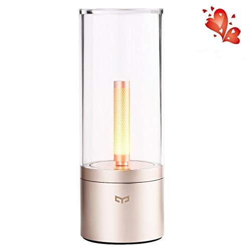 - Led Ambiance Lamp, Wanfei Yeelight Smart Candle Lights Rechargeable LED Atmosphere Lamp Flameless Candle Warm Lights Cell Phone Bluetooth Control for iOS and Android