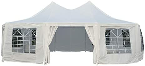 Outsunny 29 x 21 10-Wall Large Party Gazebo Tent – White