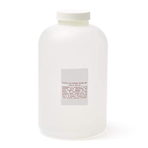 Sterile Saline 0.9% Sodium Chloride for Wound Care and Irrigation 1000ml Bottle ()