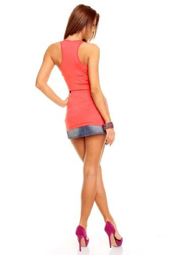 BT Style - Camiseta sin mangas - para mujer Coral