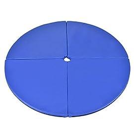 Tangkula Pole Dance Mat Foldable Yoga Exercise Safety Dancing Cushion Steel Pipe Crash Mat, Dia 5ft x 2″