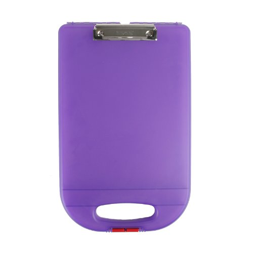 - Dexas Clipcase 2 Storage Clipboard with Rounded Handle, Purple