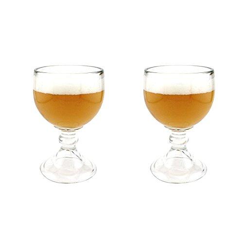 Libbey Schooner Beer Glass - 21 oz (2 Pack) w/ Free Pourers