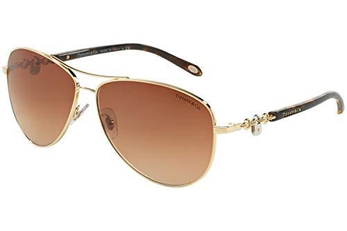 TIFFANY & CO. TF3034 - 60023B Sunglasses Gold   w/ Brown Gradient ()