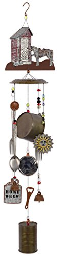 Sunset Vista Designs 92427 Outhouse Galvanized Metal Wind Chime by Sunset Vista Designs