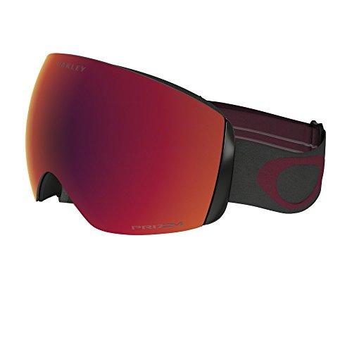 Oakley Men's Flight Deck Snow Goggles, Iron Brick, Prizm Torch Iridium, - Ski Oakley Red Goggles