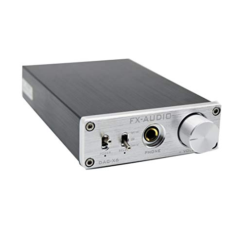 FX-Audio Dac-x6 Desktop Amp Preamplifier Audio Decoding HiFi Amp 24bit / Lossless Decoding Desktop Amp Audio Dac Decoder