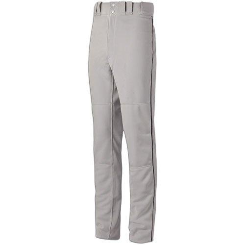 Mizuno Global Elite Piped Pant (Grey/Black, Large)