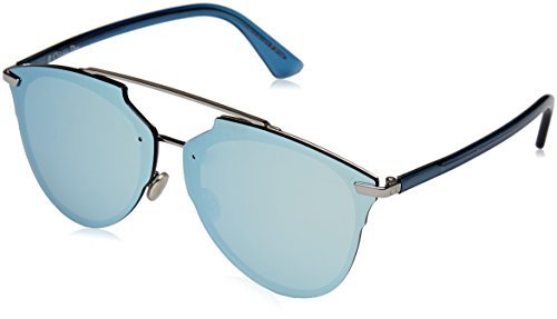 Christian Dior ReflectedP/S S62/RQ Ruthenium/Blue Crystal Sunglasses - Sunglasses Dior Blue