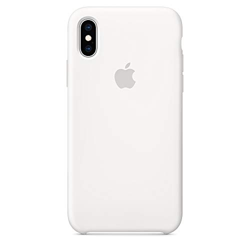Dawsofl Soft Silicone Case Cover for Apple iPhone Xs Max 2018 (6.5inch) Boxed- Retail Packaging (White)