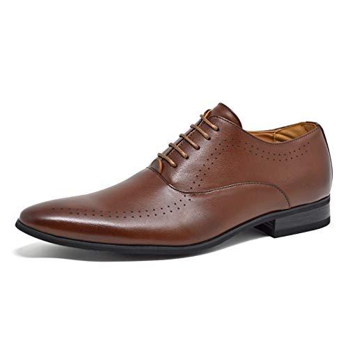 Color 40 Negro Zapatos Cordones 41 Piel Talla Eu Marrón Para Classydude Sintética Eu Hombre De nR08qRx4vw