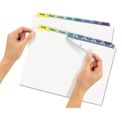 Index Maker Clear Label Contemporary Color Dividers, 8-Tab, 25 Sets/Box, Sold as 25 Set