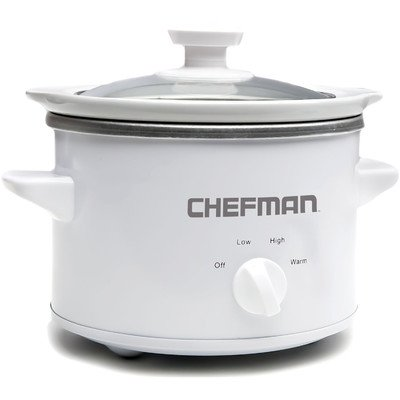 Chefman RJ15-15-WH-R Slow Cooker, 1.5 quart, White