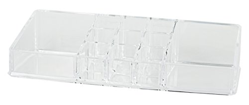 Black Duck Brand Clear Cosmetic Organizer Tray! 11 Spaces - 9