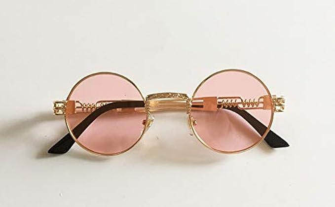 Donne Vintage Alta Uv Round Specchio Economici Occhiali Oro Sole Gli Chiaro Rosa Uomini Nuovo Piccolo Di Da Metallico Argento Rotondo Qualità