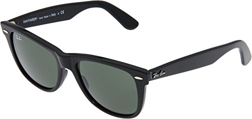 Ray-Ban 0RB2140 Original Wayfarer Sunglasses, Black, 50mm by Ray-Ban