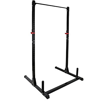 ZENY Heavy Duty Adjustable Power Rack Exercise Stand Squat Bench Workout Deadlift Curl Pull Up Cage Weight Stand