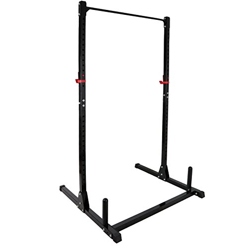 ZENY Height Adjustable Weight Rack Cage Exercise Fitness Stand Squat Bench Weightlifting Pull UP Stand Power Tower Strength Training Workout Station by ZENY