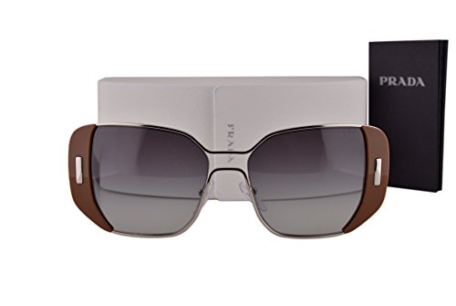Prada PR59SS Sunglasses Silver Brown w/Gray Gradient Lens USA5D1 SPR59S ()