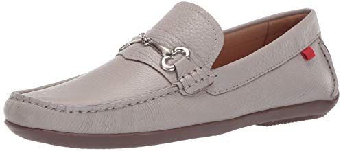 - Marc Joseph New York Mens Genuine Leather Made in Brazil Wall Street Driver Loafer, ash Grey Grainy, 10 D(M) US