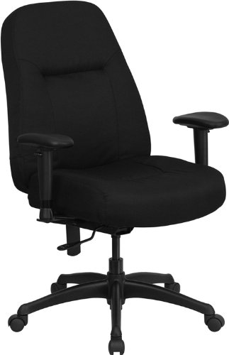 Bariatric 3' Foam (Flash Furniture HERCULES Series 400 lb. Rated High Back Big & Tall Black Fabric Executive Swivel Chair with Adjustable Arms)