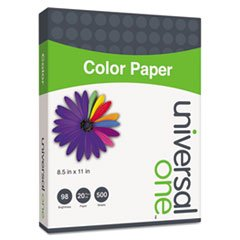 (3 Pack Value Bundle) UNV11203 Colored Paper, 20lb, 8-1/2 x 11, Green, 500 Sheets/Ream
