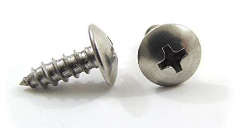 Wood Screw Stainless Steel, 100pc, Choose Size/Type, By Bolt Dropper. (1/2 Star Deck)