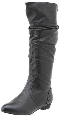 Steve Madden Women's Candence Slouch Boot, Black Leather, 8.5 M US