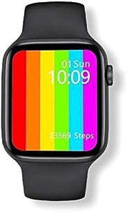 "Relógio Smartwatch IWO 12 Lite W26 Tela Infinita HD 1.75"" Preto Troca Puls"