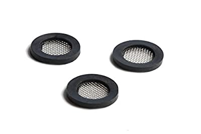 Shower Head Gasket - Rubber Washer - Creates A Seal To Prevent Leakage - With Wire Mesh Middle, 3/4 inch (3 Pack) by Barclays Buys
