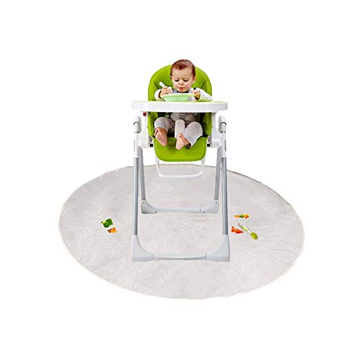 Floor Mat for Baby, Plastic Play Mat, Waterproof High Chair Floor Protector, Splat Mat, Multi-Purpose Playmat for Playing and Feeding, Clear, Round,Non Slip