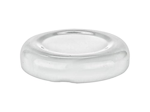 Nakpunar 24 pcs White 38 mm Glass Bottle Lids - 38TW Lug Lids