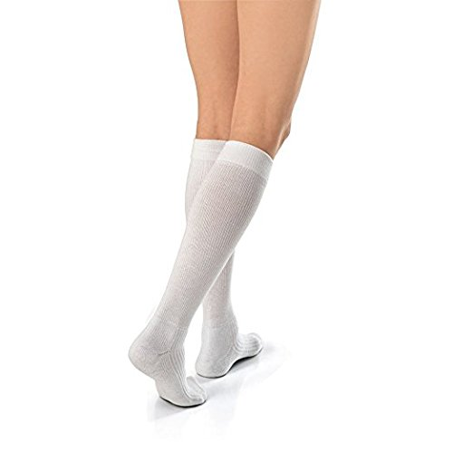 BSN Medical 110530 JOBST Activewear Socks, Closed Toe, 30-40 mmHg, XLFC, White