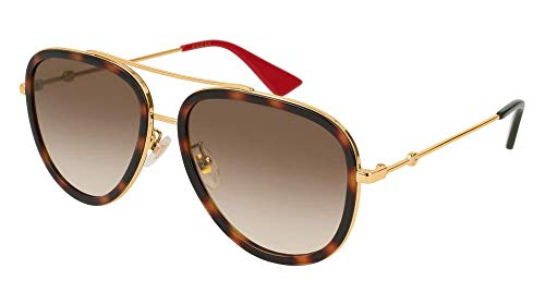 c1535a2bfc Gucci GG0062S 012 Tortoise/Gold GG0062S Pilot Sunglasses Lens Category 2  Size