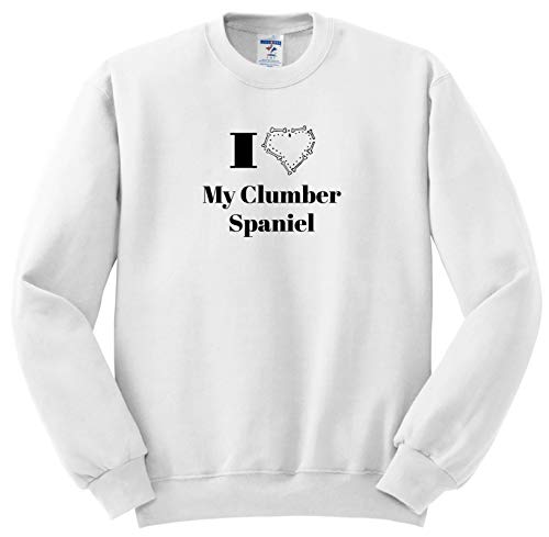 3dRose Carrie Merchant Quote - Image of I Love My Clumber Spaniel - Sweatshirts - Youth Sweatshirt XS(2-4) (ss_307117_9)