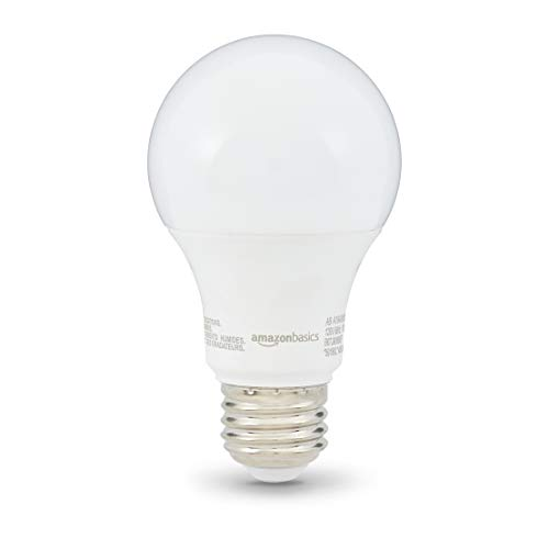 AmazonBasics 40 Watt 10,000 Hours Non-Dimmable 450 Lumens LED Light Bulb - Pack of 6, Soft White