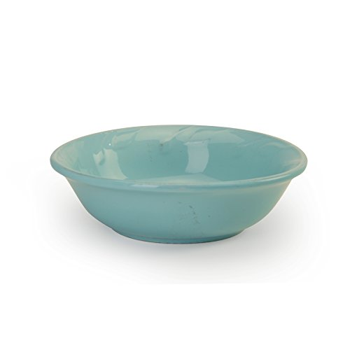 Signature Housewares Sorrento Collection Set of 4 Cereal Bowls, 7-Inch 16 Ounce, Aqua - Aqua Cereal Bowl