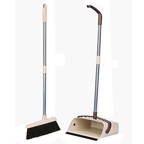 Xzzwjrz Broom And Shovel Set Upright Standing Cleaning Tools Outdoor And Terrace Broom Home Cleaning Tools