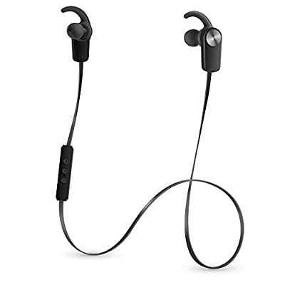 Photive PH-EB100 Sweat-Proof Wireless Bluetooth 4.0 Stereo Earbuds with Built in Microphone (Black)