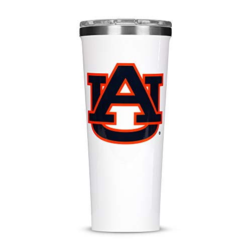 Corkcicle Tumbler - 24oz NCAA Triple Insulated Stainless Steel Travel Mug, Auburn University Tigers, Big Logo (Mug Stainless Travel Auburn Tigers)