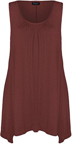 21FASHION - Camiseta sin mangas - para mujer Wine
