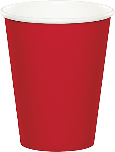 9 Ounce Coffee Cup - Creative Converting Celebrations 96-Count 9 oz. Hot/Cold Cups, Classic Red - 563548