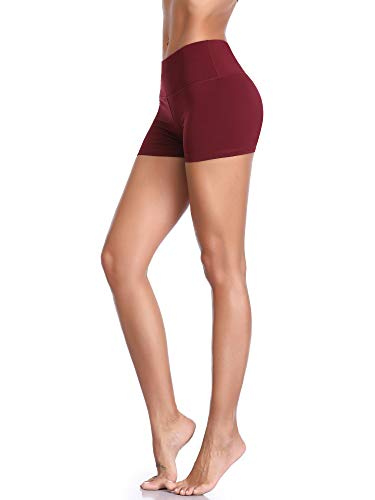Cadmus Women's High Waist Stretch Athletic Workout Shorts with Pocket