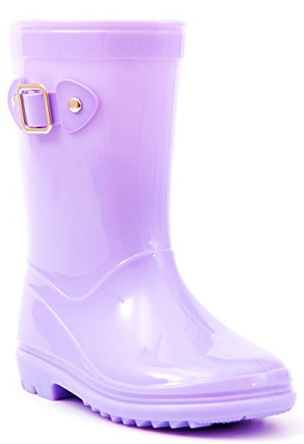 Pictures of MOFEVER Toddler Girls Kids Rain Boots Waterproof MFULP18BPUR10 5