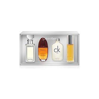 Calvĭn Kleĭn 4 Pcs Mini Set for Women + Eternĭty Eau De Parfum 0.5 fl.oz + Obsessĭon Eau De Parfum 0.5 fl.oz + Ç-K Oné Eau De Toilette 0.5 fl.oz (Calvin Klein Mini Perfume)