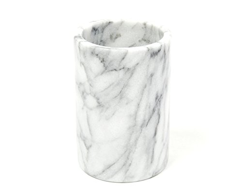 Creative Home Natural White Marble Wine Cooler, Tool Crock